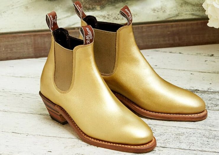 You Can Now Rock Gold R.M. Williams Boots