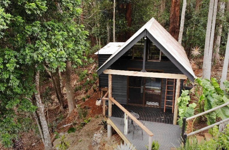 A small cabin nestled in the Gold Coast hinterland.