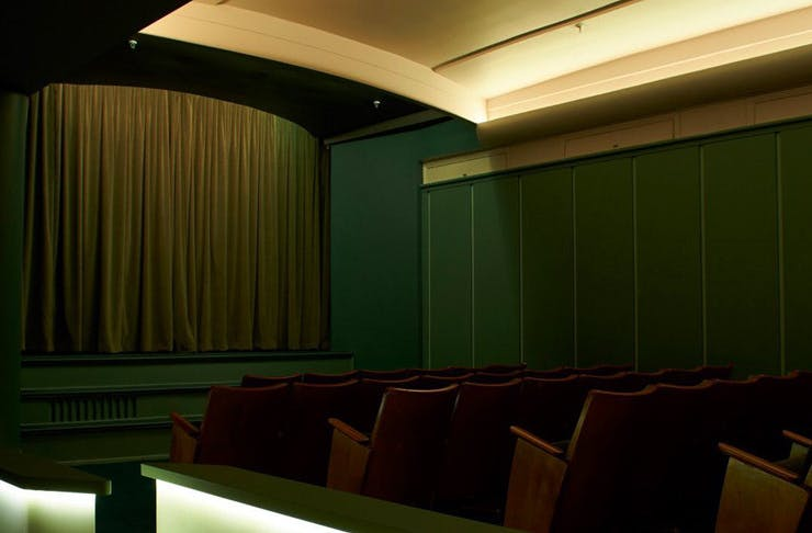 The emerald-coloured Golden Age Cinema in Surry Hills in Sydney.