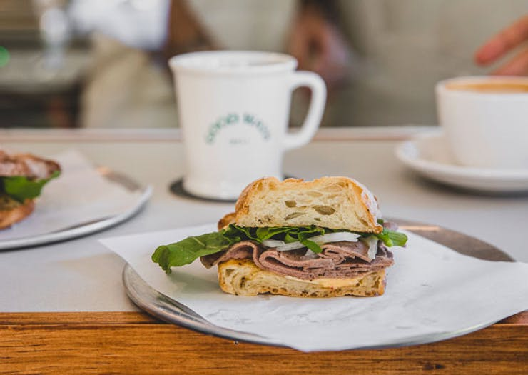 A sandwich from Good Ways Deli