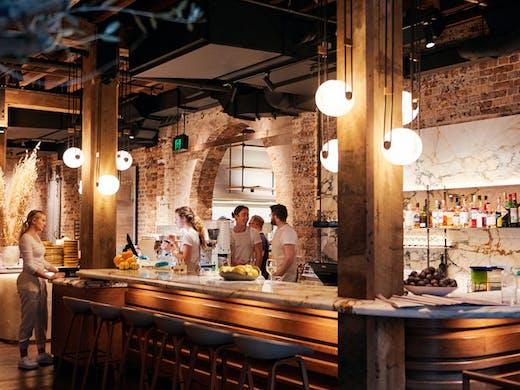 The bar at Grana restaurant in Sydney