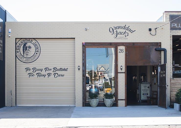 front facade of granddad jacks