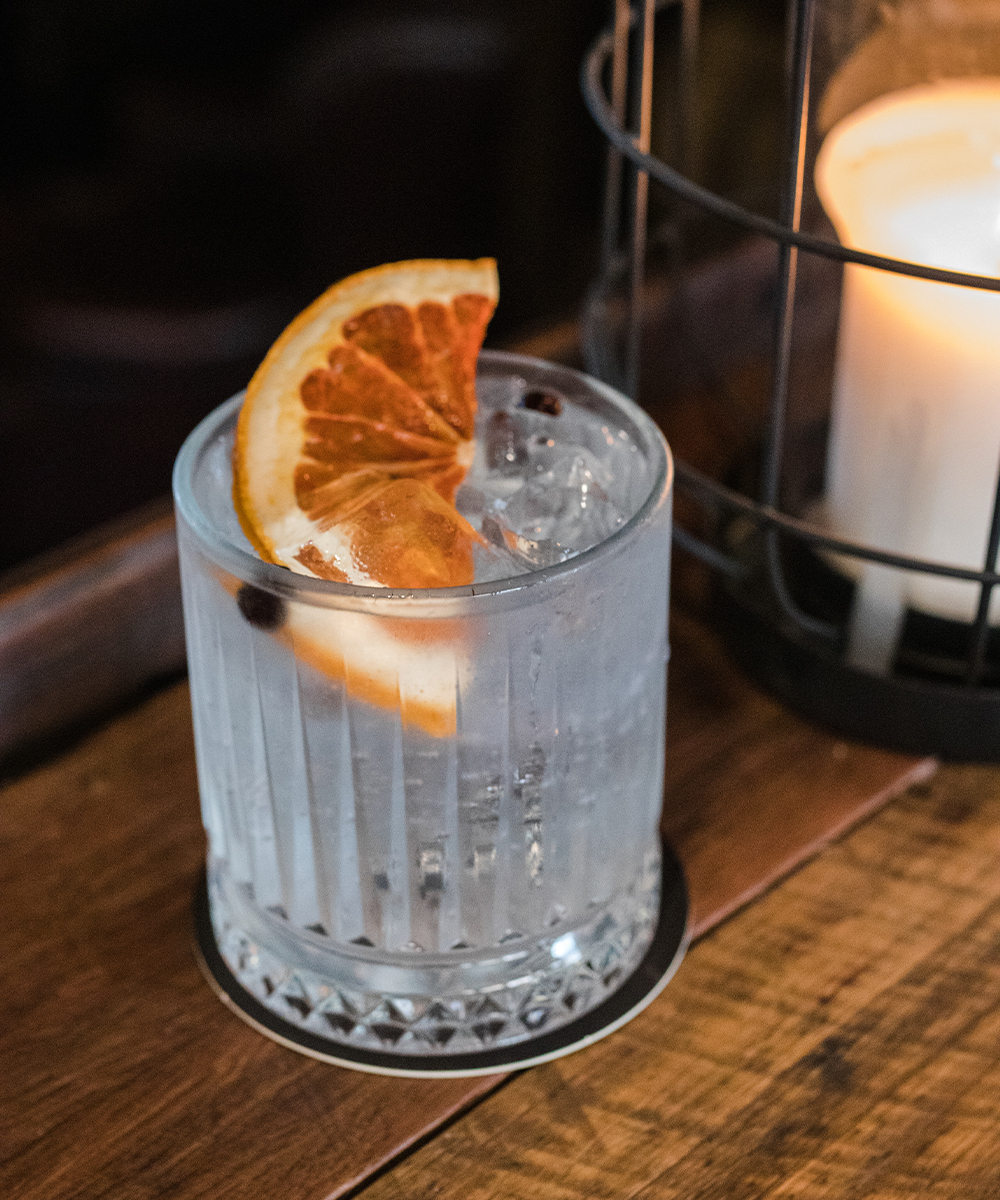 a gin and tonic