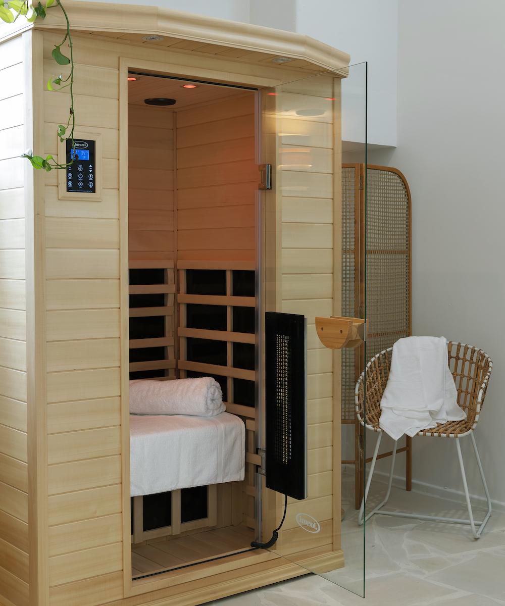 the sauna at Greenhaus Studio