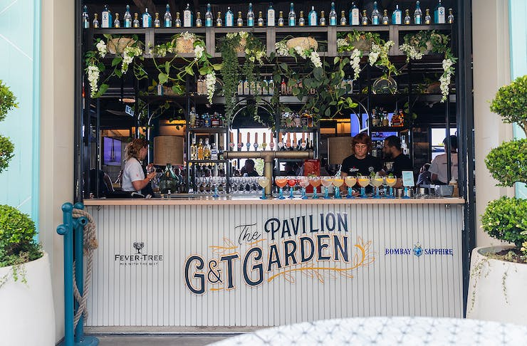 The pop up G&T Bar from the outside, looking enticing.
