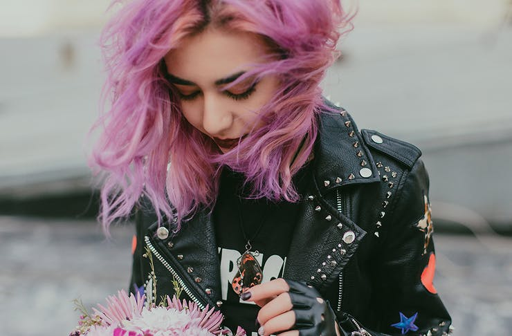 Girl with pink hair, Best hairdressers in Christchurch