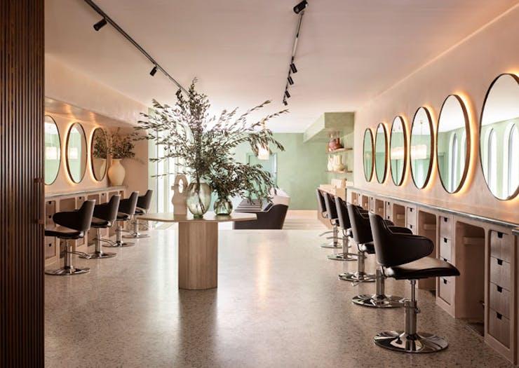 The interior at Headcase Hair Sydney, designed by Amanda Talbot.