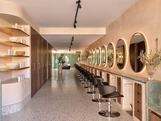 The interior of Headcase Hair salon in Paddington, Sydney.