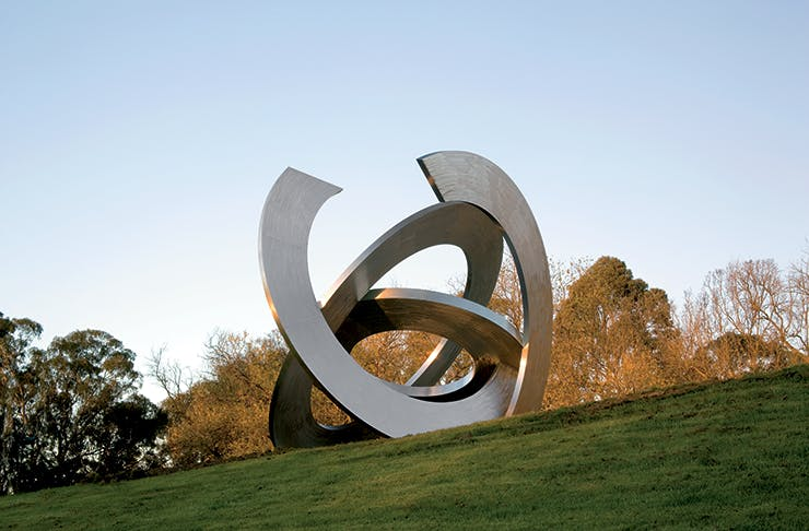 A large sculpture at the Heide museum grounds.