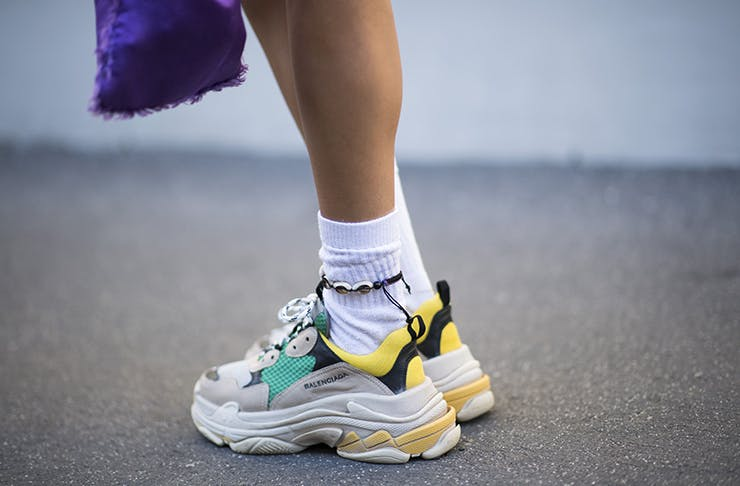 616d07d8f04 Chunky sneakers—also known as ugly dad sneakers—are a big