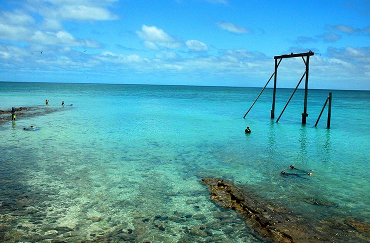 Crystal clear waters of Heron Island, Queensland.