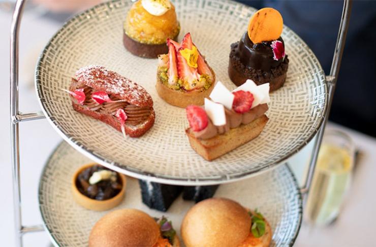 a platter of high tea treats