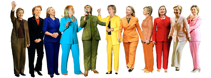 hilary clinton power dressing