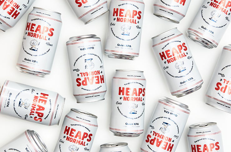 white beer cans on a white background. The labels read