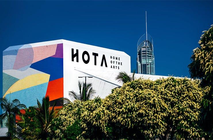 the exterior of the HOTA building
