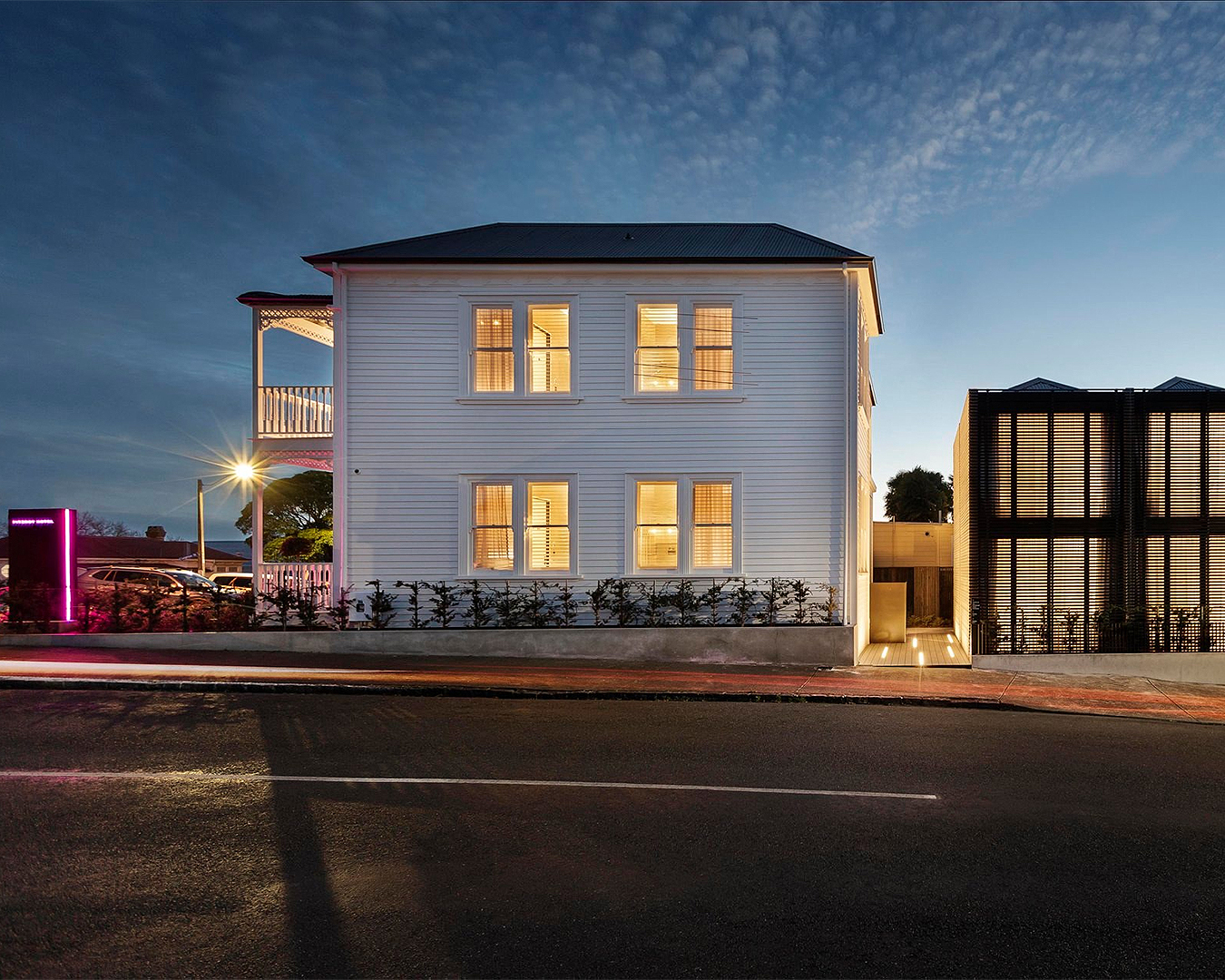 The exterior of Hotel Fitzroy in Grey Lynn.