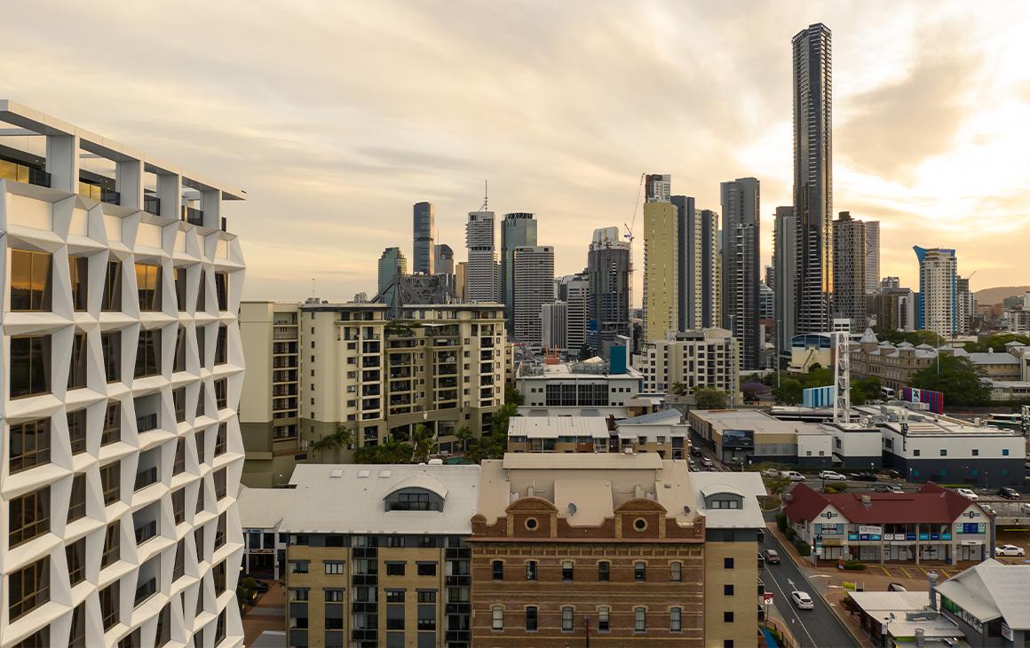 a view of brisbane city