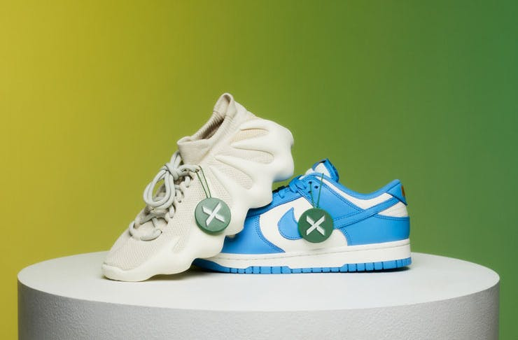 StockX Yeezy and Nike sneakers on display.
