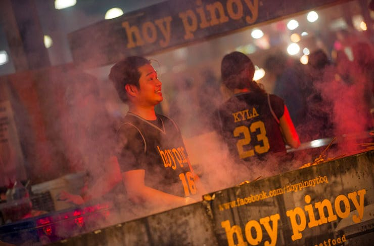 The Hoy Pinoy stall at the Night Noodle Markets.