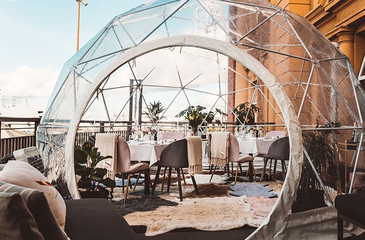Harbourside Ocean Bar and Grill igloos