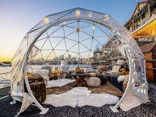 Here's Where You Can Watch Vivid From Within A Magical Snow Globe Bar
