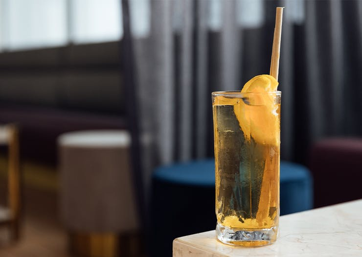 an aperol soda cocktail