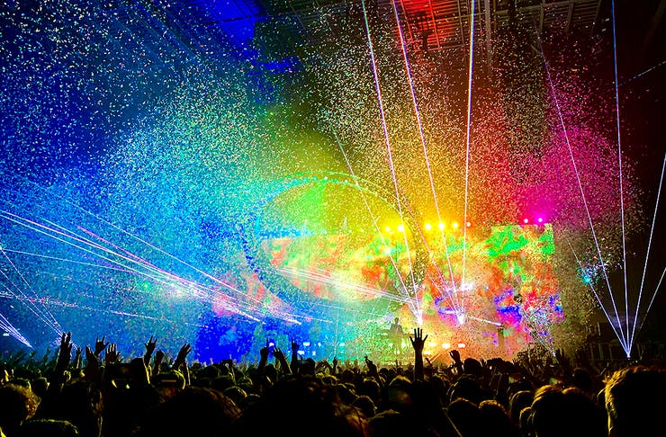 All the colours during a festival