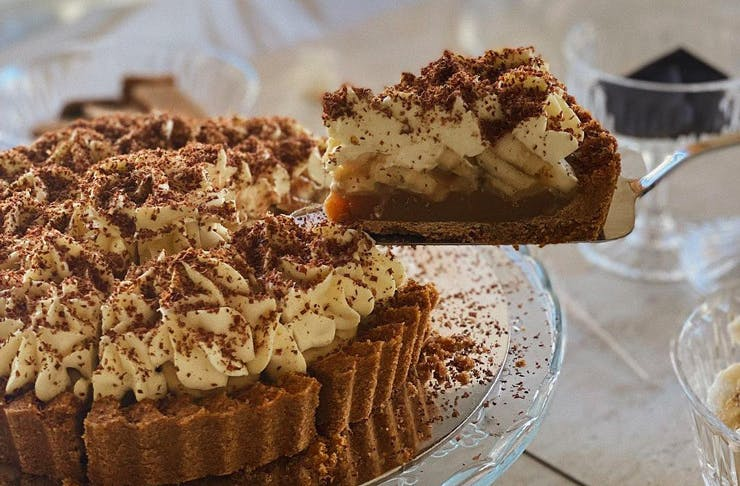 A slice of banoffee pie from Just Banoffy