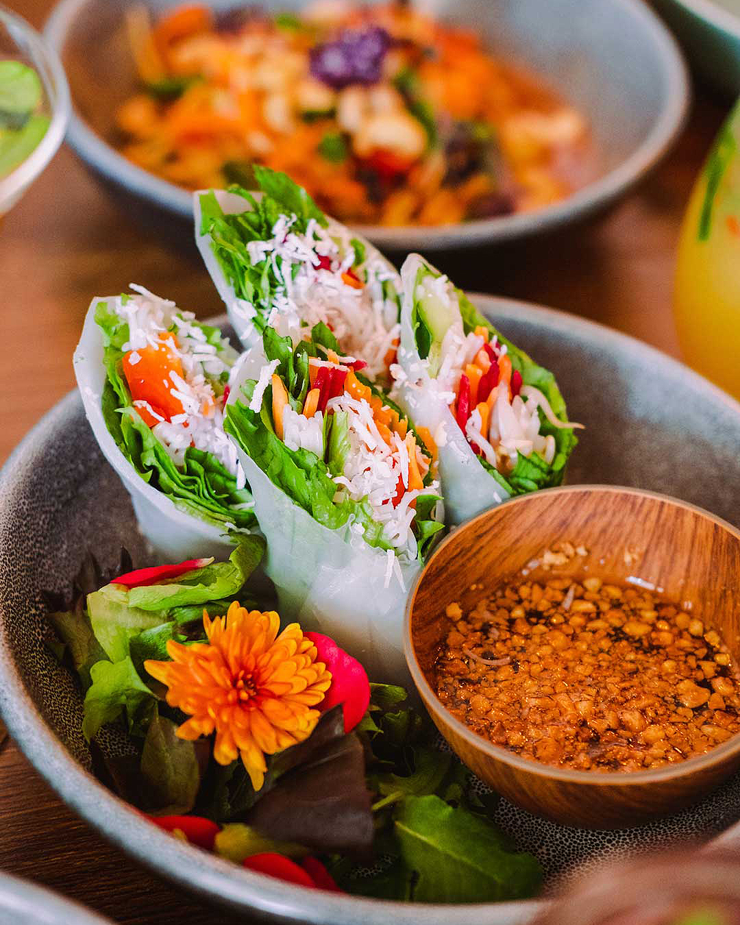 Spring rolls from Khu Khu.