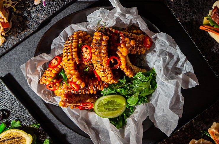 roasted corn kernel pieces