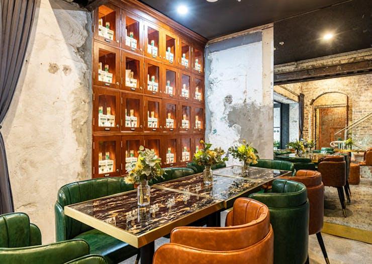 The interior of the Kings Cross Distillery Bar in Sydney.