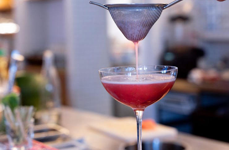 A cocktail being made at Kinhboy in Redfern.
