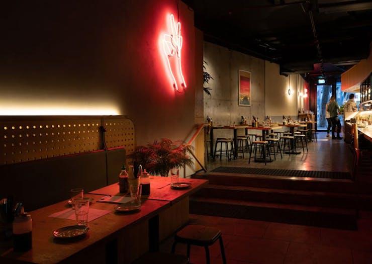 The interior of Kinhboy restaurant in Sydney.