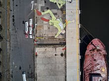 Feast Your Eyes, Port Melbourne's Is Now Home To The Southern Hemisphere's Largest Mural