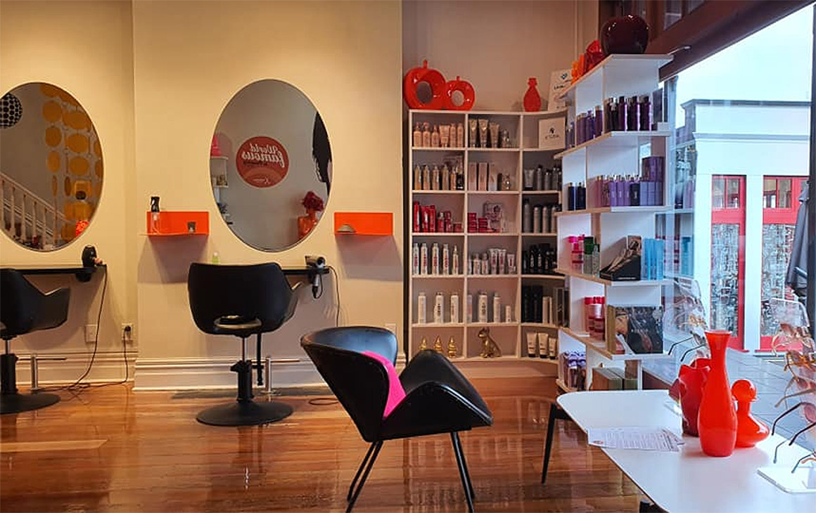 The salon at Kokomo Haircutters, one of the best hairdressers in Auckland.