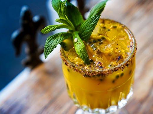 A passionfruit margarita from La Farmacia bar in Sydney.