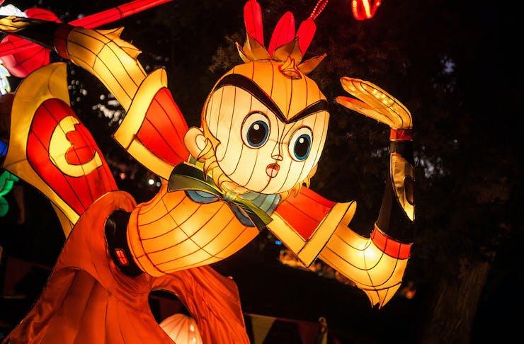 A lantern of a fighting man.