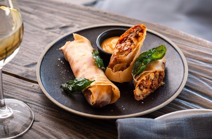 lasagne spring rolls