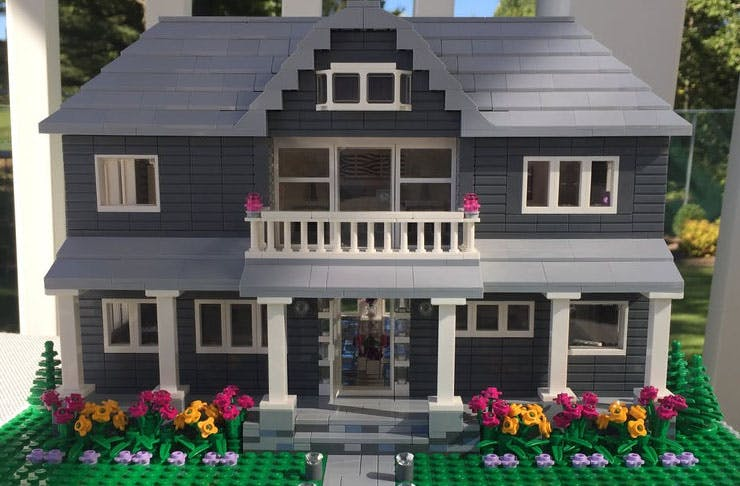 Order LEGO house on Etsy