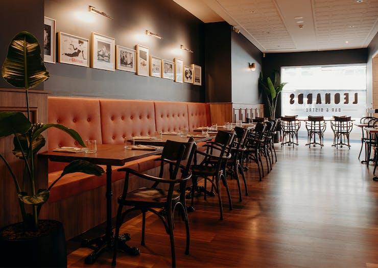 interior of leaonards restaurant