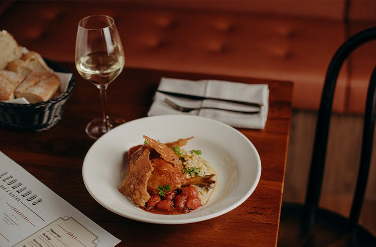 plate of roast chicken