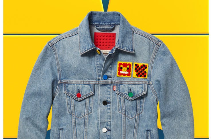 A denim jacket from the Levi's x LEGO collaboration.