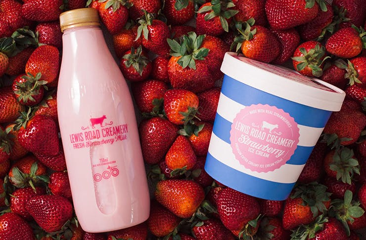 Lewis Road Creamery strawberry