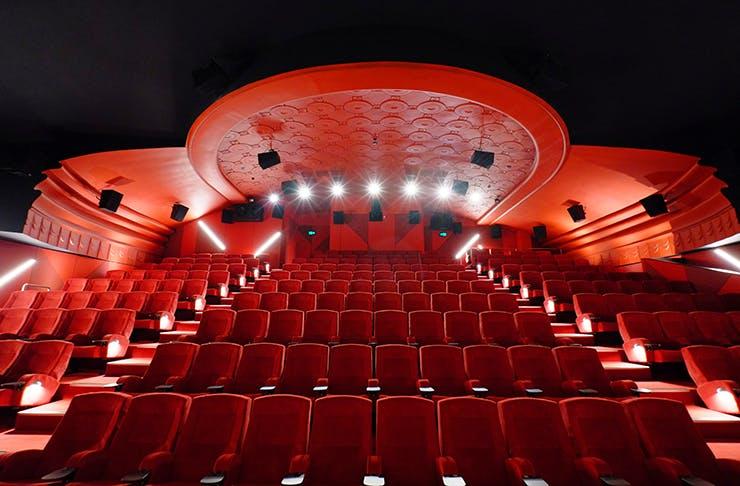 A lipstick red cinema.