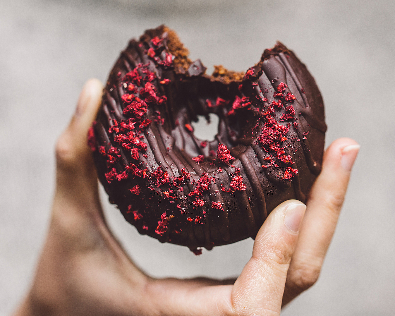 A delicious chocolate donut from Little Bird Organics