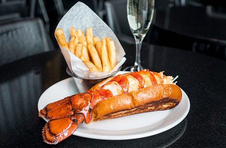 lobster champagne pop up
