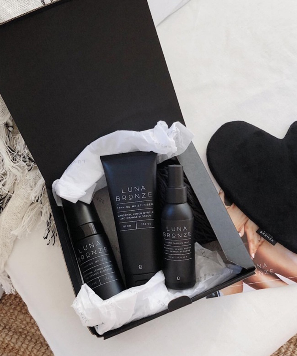 Luna bronze products in a gift box