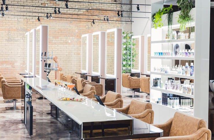 Interior of a hair salon
