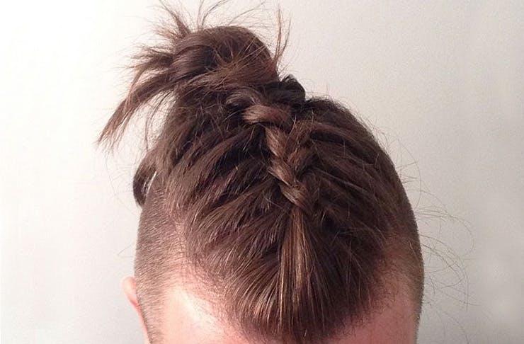 man braids