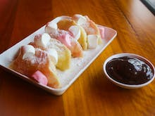 Order Up A Plate Of These Marshmallow Dumplings With Nutella Dipping Sauce